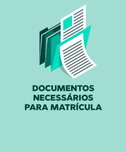 Imagem da parte frontal do Card de Documentos Necessários para a Matrícula